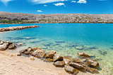 Beautiful beach on Croatian island Pag