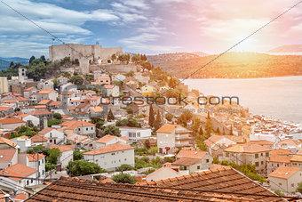 Old town of Sibenik in Croatia