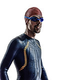 man triathlon ironman athlete swimmers portrait