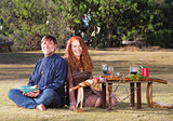 Happy Pagan Couple Outdoors
