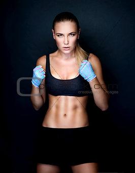 Beautiful boxer girl