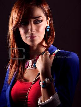 Portrait of stylish girl