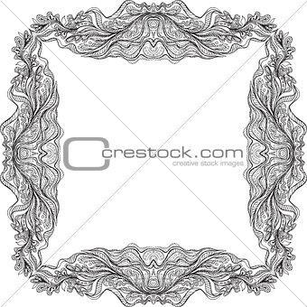 Black hand drawn doodle frame