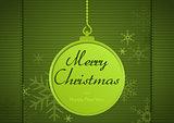 Green Xmas Greeting
