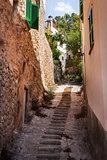 Narrow street, Majorca, Spain
