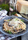 Porcini and parmesan pasta