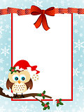 Cute Owl Christmas Greeting Card