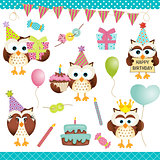 Digital Owls Birthday Party