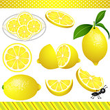 Lemon Digital Clipart