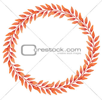 Frame with orange autumn leaves