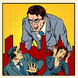 boss anger work office business concept