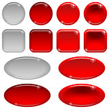 Glass buttons, set