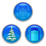 Christmas buttons, set