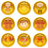 Buttons set, childhood