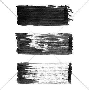 Abstract watercolor paintbrush lines for your project