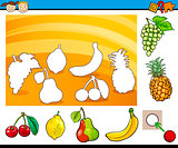 cartoon educational task for children