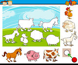 cartoon preschool task for kids