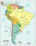 South America physiography map