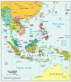 Southeast Asia physiography map