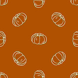 Seamless pattern of autumn pumpkins. Harvest of pumpkins.