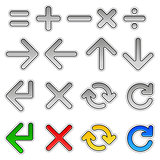 arrows and mathematical signs