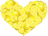 Lemon Heart Shaped