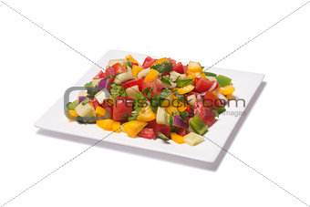 Tomato salad pepper and cucumber