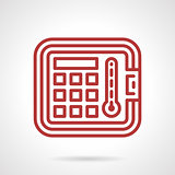 Red line vector icon for autoclave