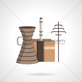Power plant flat color vector icon