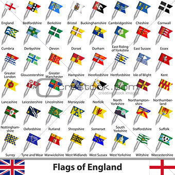 Flags of England, UK