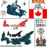 Map of Prince Edward Island, Canada