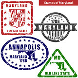 Stamps of Maryland, USA