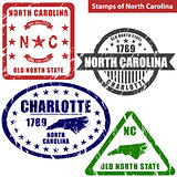 Stamps of North Carolina, USA