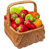 Basket with paprika.