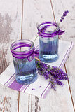 Lavender lemonade in purple and white.
