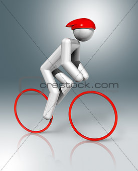 Cycling Road 3D symbol, Olympic sports