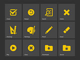 Application interface icons.