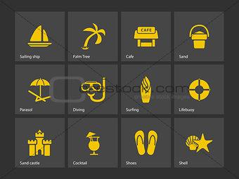 Beach icons.