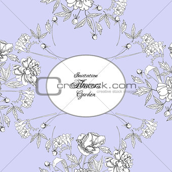 Background with bouquet of flowers-02