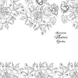 Background with bouquet of flowers-03