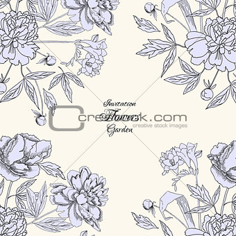 Background with bouquet of flowers-04