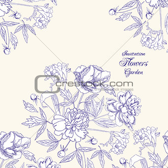 Background with bouquet of flowers-06