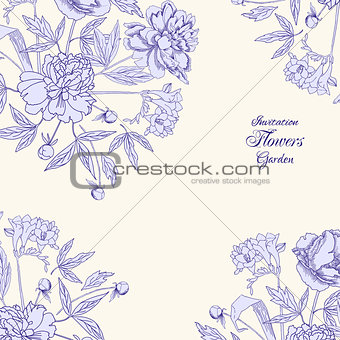 Background with bouquet of flowers-05