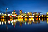 Portland Oregon Skyline Blurred Background
