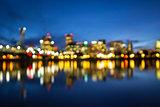 Portland Oregon Skyline Blurred Background