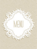Decorative menu design