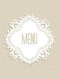 Decorative menu design