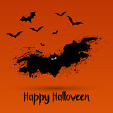 Grunge Halloween bat background
