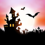 Halloween house background