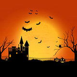 Haunted Halloween house background
